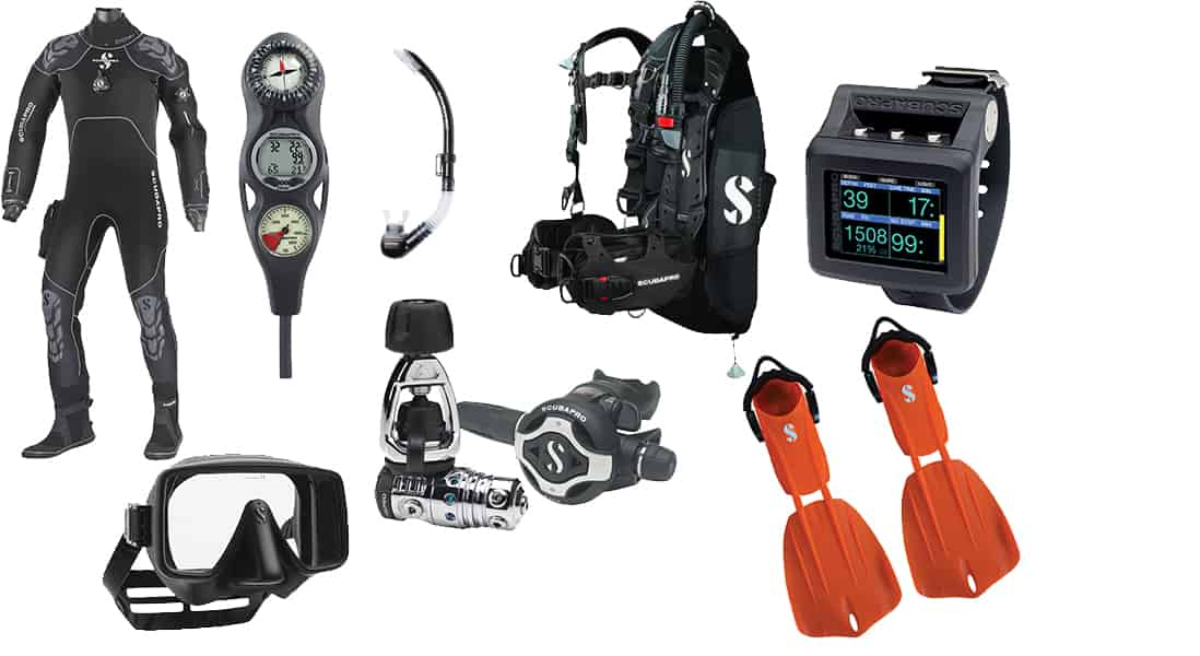 how much does scuba gear cost
